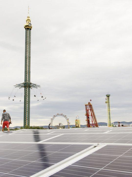 Der Wiener Prater ist um eine Attraktion – und um eine Solaranlage reicher! Foto: © Wien Energie / Max Kropitz