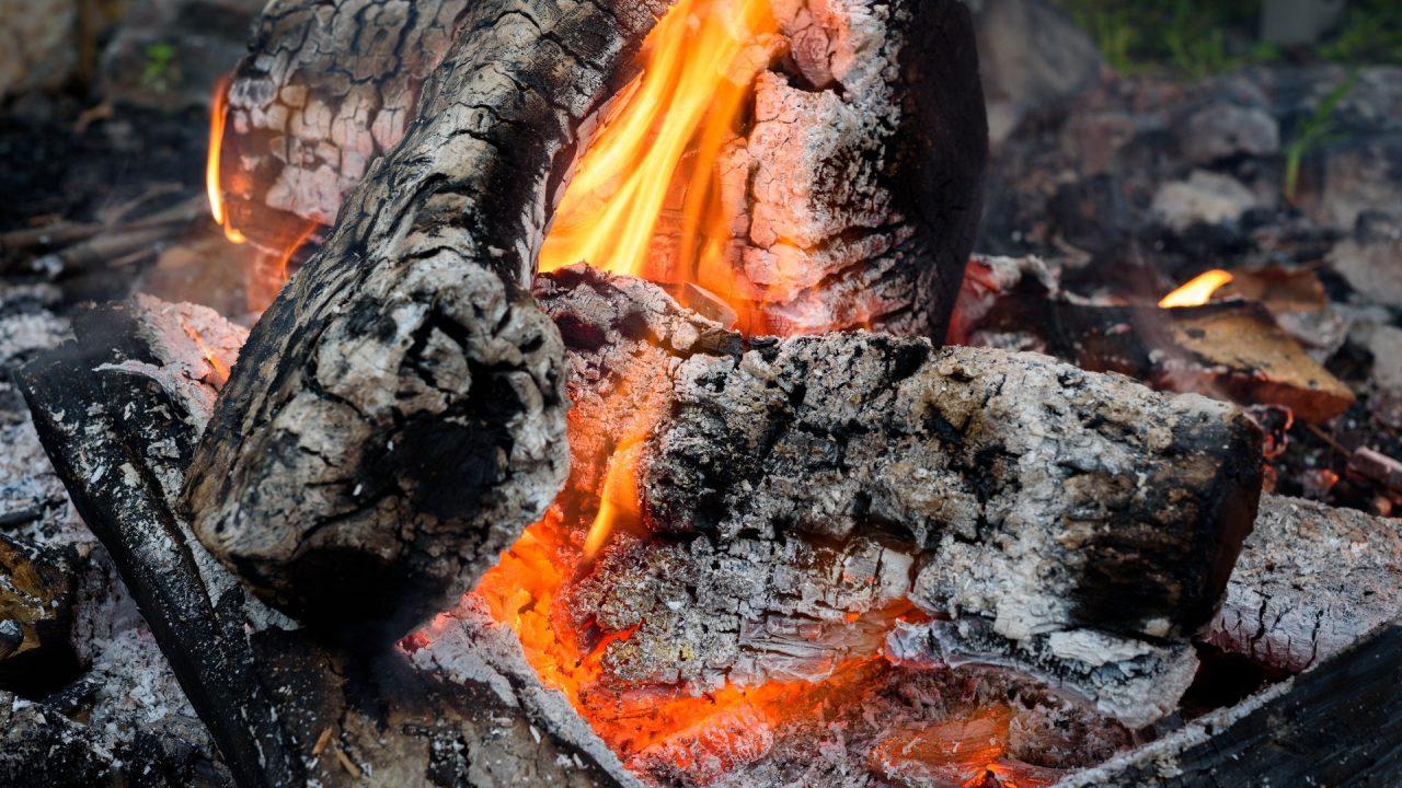 Holzasche sollte auf jeden Fall gut ausgekühlt sein bevor du sie in den Kompost kippst. Bild: Pexels