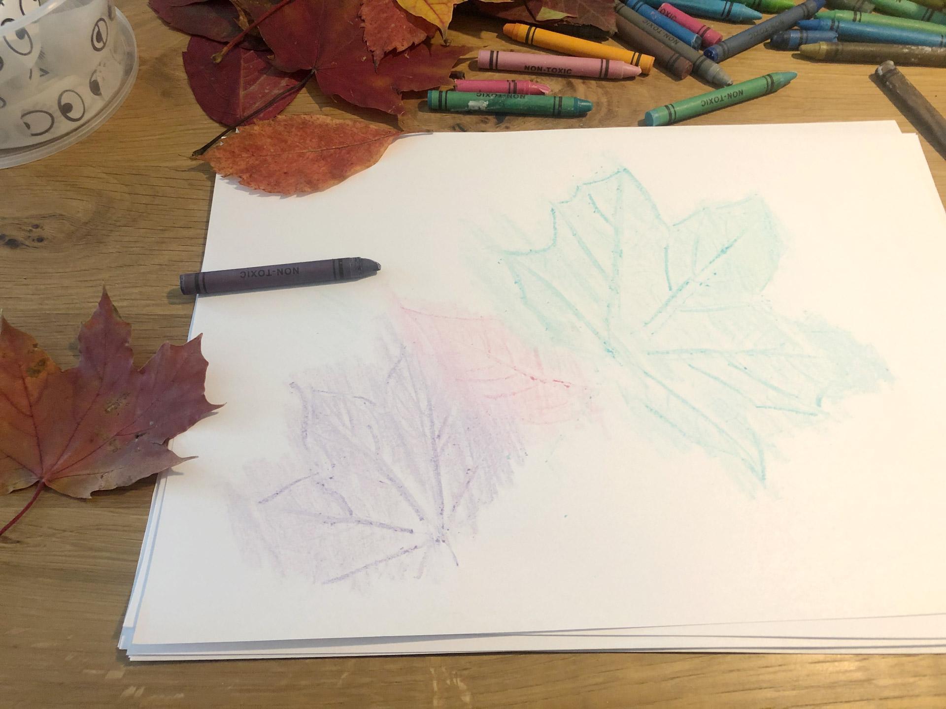 Basteln mit Blättern