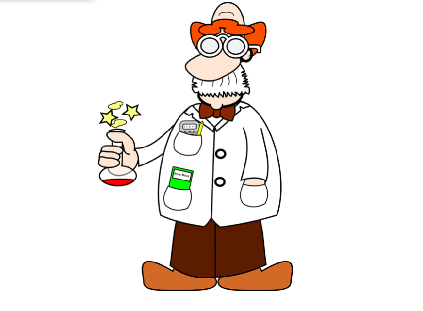 Wenig verdünnter Himbeer-Saft im einem Glas kann mit der richtigen Attitüde des Kostümträgers schon mal als flüssiges, chemische Experiment durchgehen. Einen weißen, ausgedienten Blazer braucht es für das oben beschriebe Kostüm. Fotocredit: © Clker-Free-Vector-Images/Pixabay