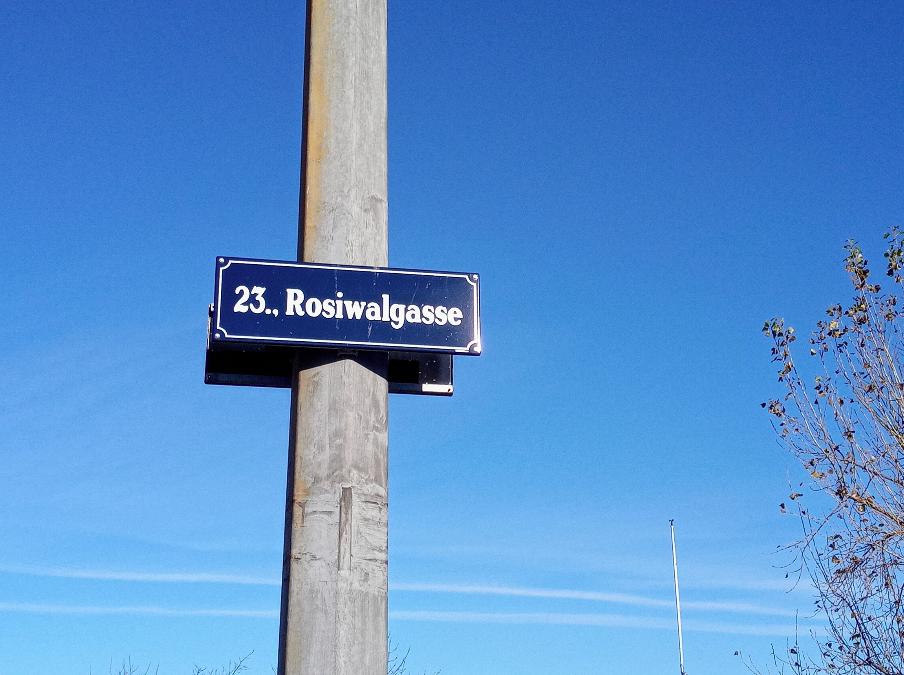 Von der Innenstadt braucht es ein bisschen Zeit, um hier in die Rosiwalgasse im 23. Bezirk zu kommen.