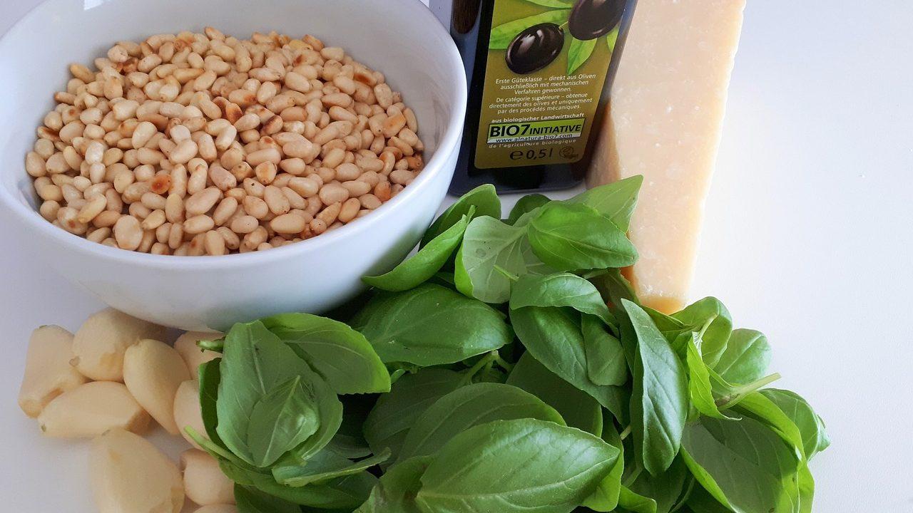 Wenig, das so köstlich ist, wie ein frisches Pesto ist auch genauso schnell zubereitet. Für uns dürfen dabei die laut TCM wärmenden Pinienkerne nicht fehlen. Fotocredit: © Vorarlberger Botschaft auf Pixabay