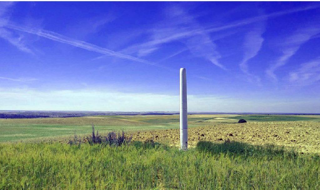 Eine Windkraftanlage ohne Rotorblätter? Schwingungen erzeugen Energie. Fotocredit: © Vortex Bladeless