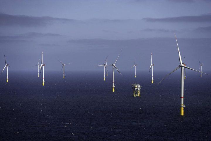 Neben vielen anderen wird auch der hier sichtbare deutsche Offshore-Windpark Gode Wind 1 und 2 in der südlichen Nordsee von Ørsted betrieben. Fotocredit: © Ørsted