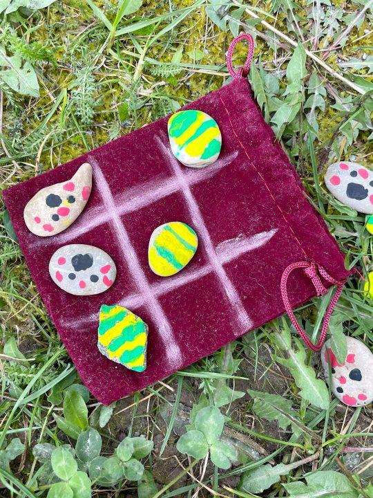 DIY Tic Tac Toe aus Steinen