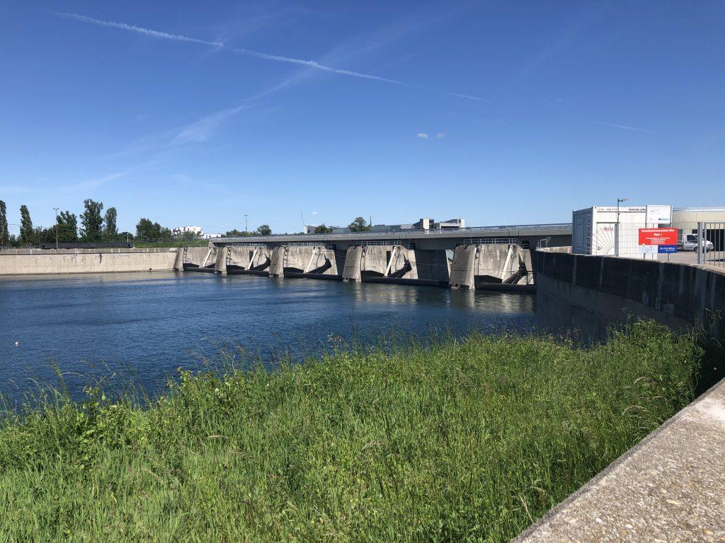 Die Wehranlage 1 auf der Neuen Donau. Fotocredit: Energieleben Redaktion