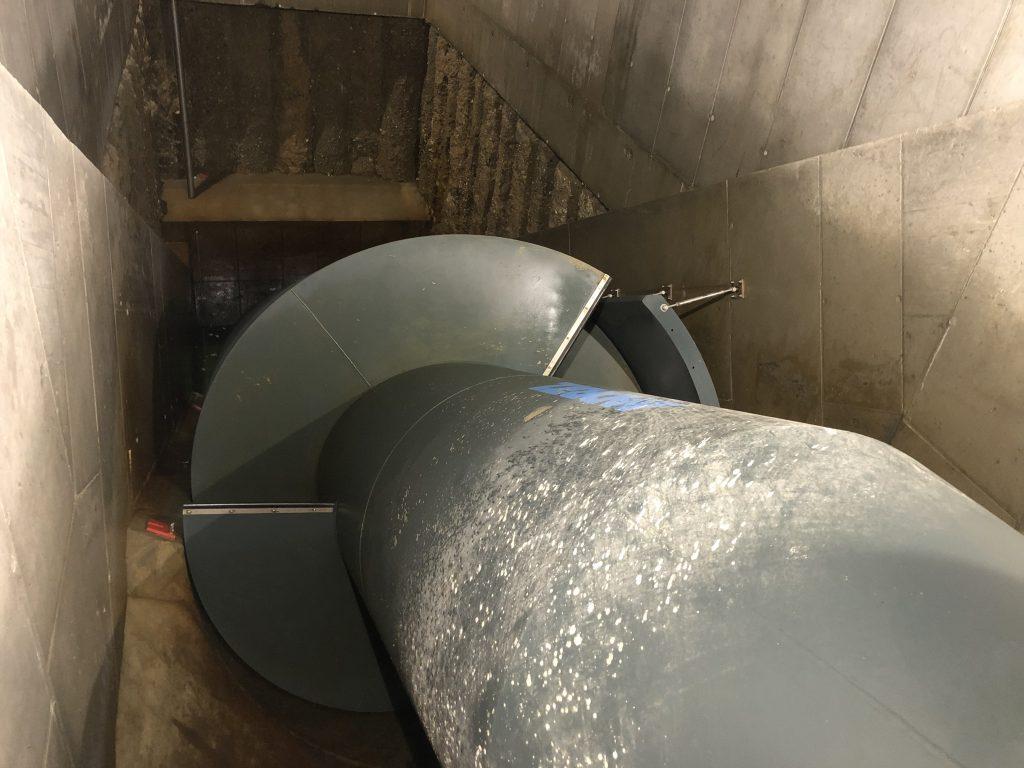 """Die Wasserkraftschnecke wird auch liebevoll """"Schneckerl"""" genannt. Fotocredit: Energieleben Redaktion"""