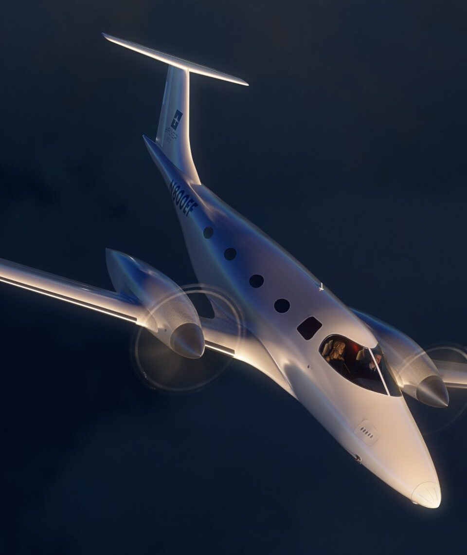 Noch befindet sich der Bye Aerospace eFlyer 800 im Projektstadium. RAS hat dennoch bereits fünf dieser vollelektrischen Flugzeuge bestellt. Fotocredit:© Bye Aerospace