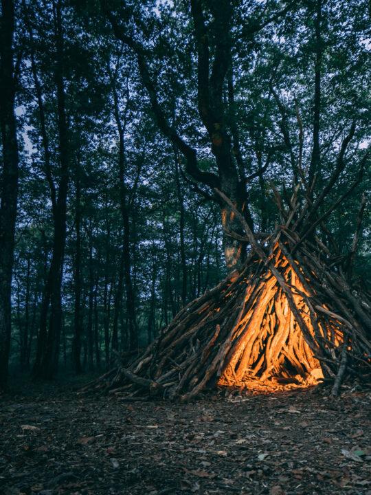 Tipi im Wald