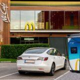 McDonald's plant im Zuge einer Umwelt- und Energiestrategie die Etablierung von E-Ladestellen. Fotocredit: © McDonald's Österreich